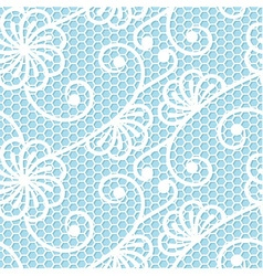 Seamless lace pattern on beige background vector