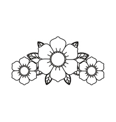 Floral tattoo isolated icon design vector