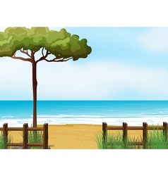 A quiet beach vector