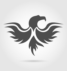 Abstract label of eagle silhouette vector image