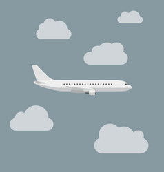 Airplane with clouds vector