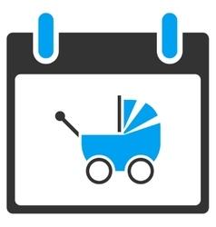Baby carriage calendar day toolbar icon vector