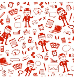 business pattern vector image vector image