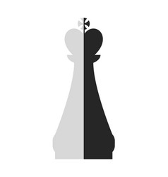 chess piece king flat object on a white vector image