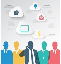 Colorful silhouette businessman team vector
