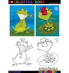 Fantasy frog prince for coloring vector