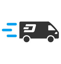 Fast dash delivery car flat icon vector