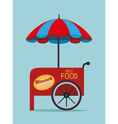 Food design over blue background vector