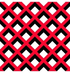 Geometric red black white pattern vector