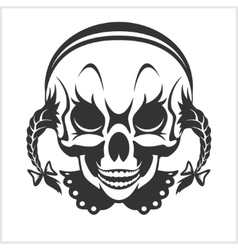 girl clown skull isolated vector image