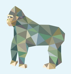Gorilla low polygon style vector image