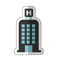 hotel building isolated icon vector image vector image