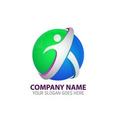 Human Technology Logo Template vector image vector image