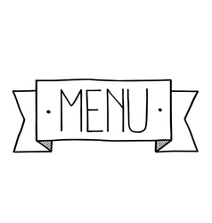 Menu icon hand drawn vector image vector image