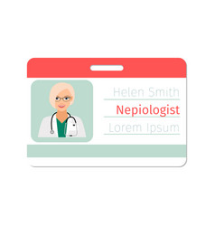 Nepiologist medical specialist badge vector