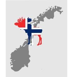 Norwegian moose vector
