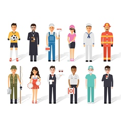 Occupation profession people vector image vector image