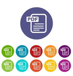 Pdf flat icon vector image vector image
