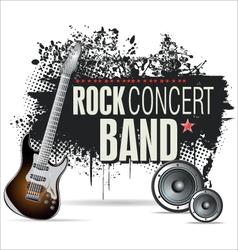 Rock concert grunge banner vector