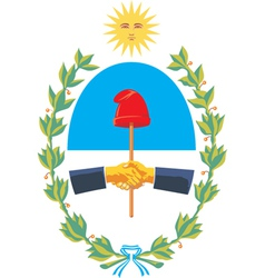 San Juan Province Coat-of-Arms vector image