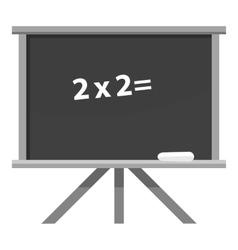 School board icon gray monochrome style vector