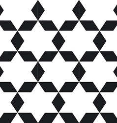 Seamless geometric black white pattern To see vector image vector image