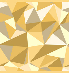 seamless pattern with glitter gold triangles vector image