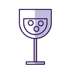 Shadow cartoon glass wine vector