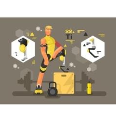 Sport prostheses design flat vector