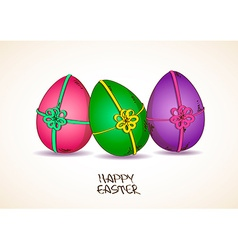 Three colorful Easter eggs vector image