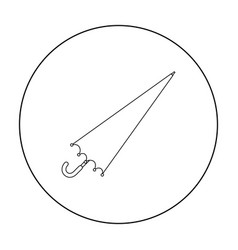 umbrella icon in outline style isolated on white vector image