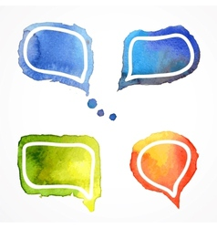 watercolor speech bubbles vector image vector image