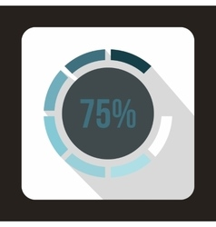 Web preloader 75 percent icon flat style vector