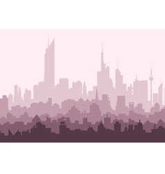 Morning city skyline vector