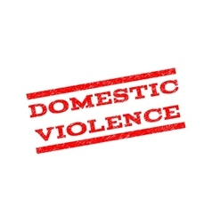 Domestic violence watermark stamp vector