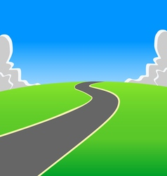 Road into the unknown vector