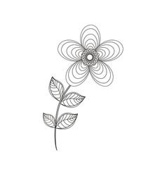 geranium flower decoration line vector image