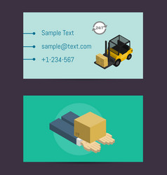 Logistics and delivery business card template vector