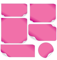Isolated pink paper sheets pack vector