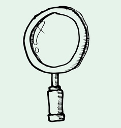 Drawing of magnifying glass vector