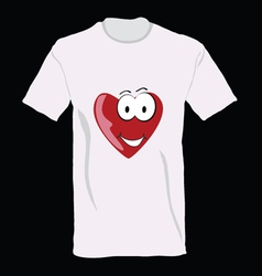 t-shirt with heart on it vector image