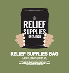 Relief supplies bag vector