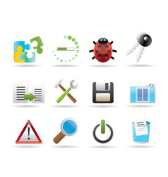 Programming icons vector