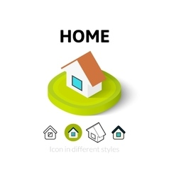 Home icon in different style vector