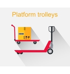 Platform trolleys icon design style vector