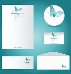decorative stationery mock up 2901 vector image
