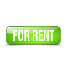 For rent green square 3d realistic isolated web vector