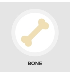 Bone flat icon vector