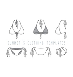 Clothing set swimwear vector