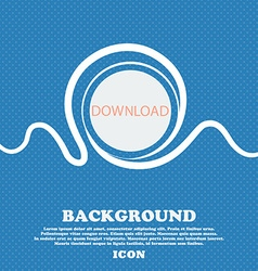 Download icon upload button load symbol blue and vector
